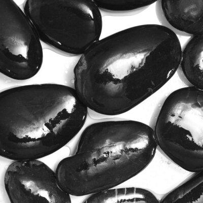 Carta da parati bagnato pietre nere