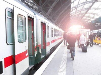 Carta da parati Bahnhofsverkehr