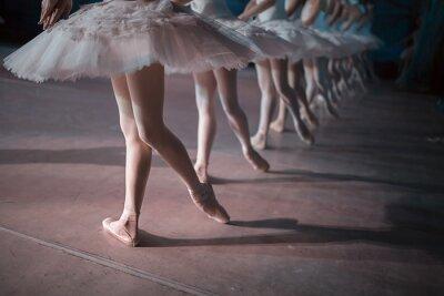 Carta da parati Ballerini in tutu bianco sincronizzato danza