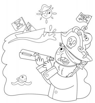 Carta da parati Bambino Vestito da pirata