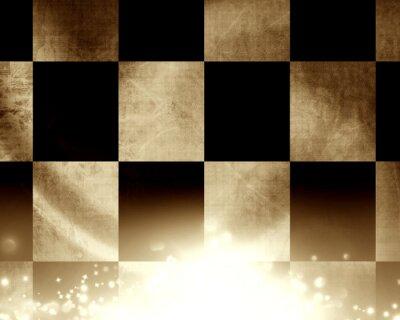 Carta da parati Bandiera a scacchi corse