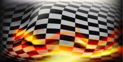 Carta da parati bandiera a scacchi gara. bandiere Racing. Sfondo bandiera a scacchi per