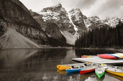 Carta da parati barca Moraine Lake