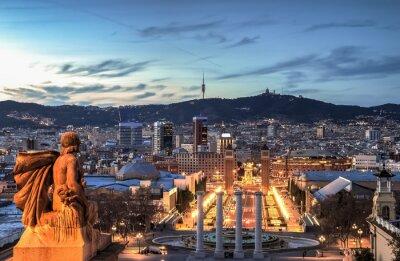 Carta da parati Barcellona all'ora blu, in Spagna