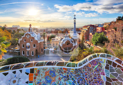 Carta da parati Barcellona - Parco Guell, Spagna
