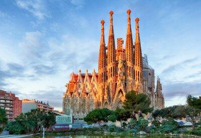 Carta da parati BARCELLONA, SPAGNA - 10 febbraio: La Sagrada Familia - l'impronta