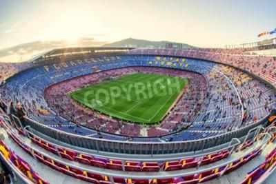 Carta da parati BARCELONA, SPAGNA - 19 APRILE: Stadio di calcio il 19 aprile 2017 a Barcellona