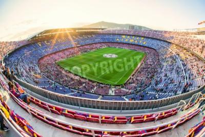 Carta da parati BARCELONA, SPAGNA - 19 APRILE: Stadio di calcio Nou Camp il 19 aprile 2017 a Barcellona