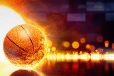 Carta da parati basket Bruciare
