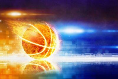 Carta da parati basket masterizzazione caldo