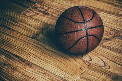 Carta da parati Basket sul legno duro 1