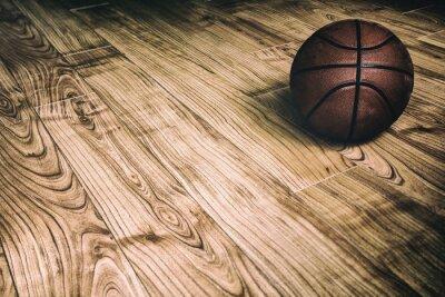 Carta da parati Basket sul legno duro 2