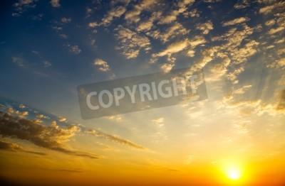 Carta da parati bassa del cielo a alba composizione Nature
