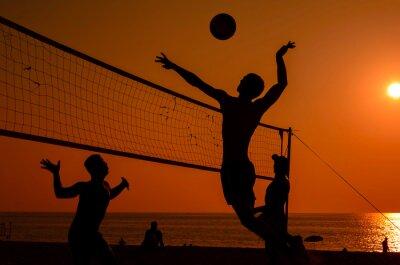 Carta da parati Beach volley silhouette
