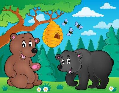 Carta da parati Bears natura theme image 4 a