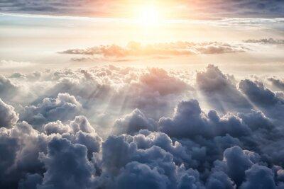Carta da parati Beautiful blue sky background