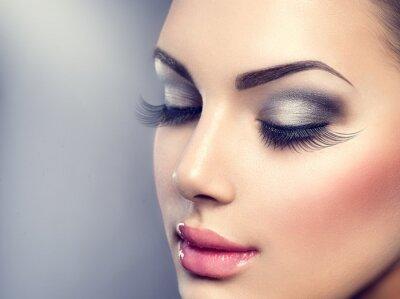 Carta da parati Beautiful fashion luxury makeup. Long eyelashes, perfect skin