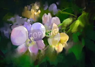 Carta da parati beautiful painting of orchid flowers