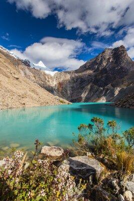 Carta da parati Bei paesaggi di montagna nelle Ande, in Perù, Cordiliera Blanca