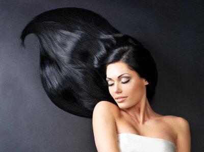 Carta da parati Bella donna con lunghi capelli lisci