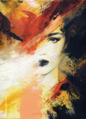 Carta da parati bella donna illustrazione di moda. pittura ad acquerello