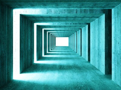 Carta da parati bella immagine di 3d tunnel concretet astratto