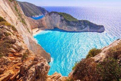 Carta da parati Bella Navagio Beach (spiaggia del naufragio) sull'isola di Zante, in Grecia
