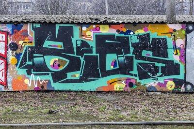 Carta da parati Bella street art graffiti. Disegno astratto moda creativa