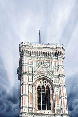Carta da parati Bella vista del campanile di Firenze