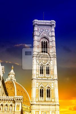 Carta da parati Bella vista della Torre della cattedrale di Firenze