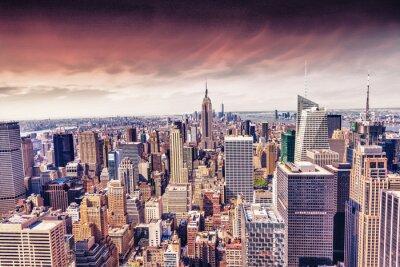 Carta da parati Bella vista di New York City skyline
