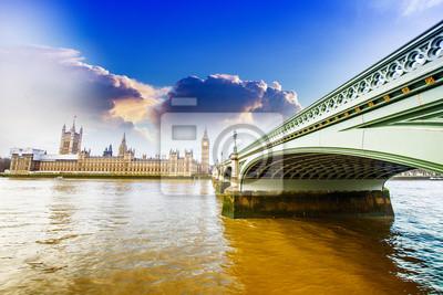Carta da parati Bella vista di Westminster, Londra.