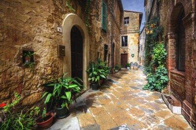 Carta da parati Belle angoli del borgo medievale italiano a