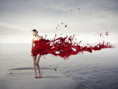 Carta da parati bellezza Rosso