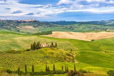Carta da parati Bellissimo paesaggio in Toscana, Italia