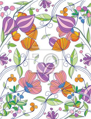Bellissimo Sfondo Floreale Con Fiori Di Primavera Carta Da Parati