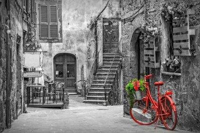 Carta da parati Bellissimo vicolo in Toscana, centro storico, Italia