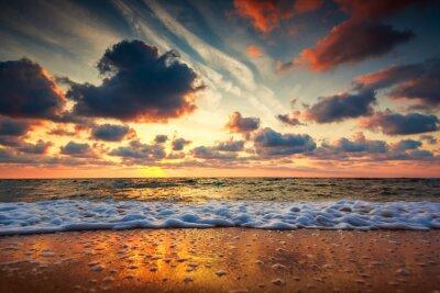 Carta da parati Bello cloudscape sopra il mare