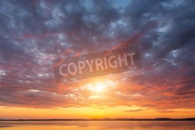 Carta da parati Bello tramonto ovet Alpi lago Austria