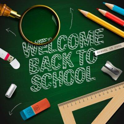 Carta da parati Bentornati a scuola, vector eps10.