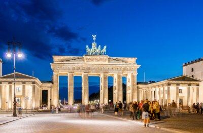 Carta da parati Berlino - 4 agosto 2013: la Porta di Brandeburgo, il 4 agosto in Germania