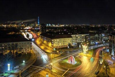Carta da parati Berlino Stadtleben bei Nacht