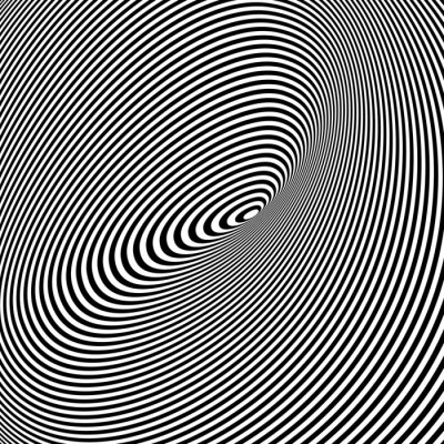 Carta da parati Bianco e nero Opt Art Background