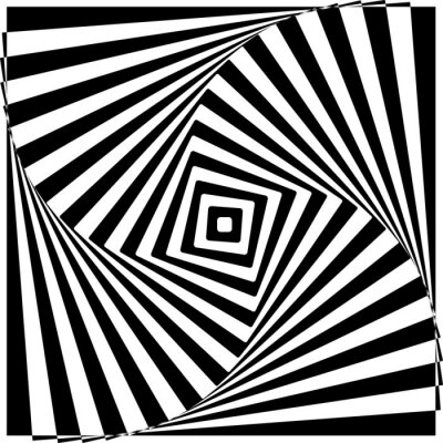 Carta da parati Bianco e nero Optical Illusion illustrazione vettoriale.