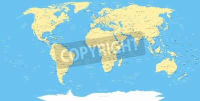 Carta da parati Bianco mappa del mondo e icone di navigazione - illustrazione.