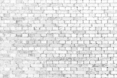 Carta da parati Bianco muro di mattoni