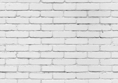 Carta da parati Bianco muro di mattoni, di sfondo senza soluzione di tessitura