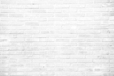 Carta da parati Bianco muro di mattoni grunge texture di sfondo