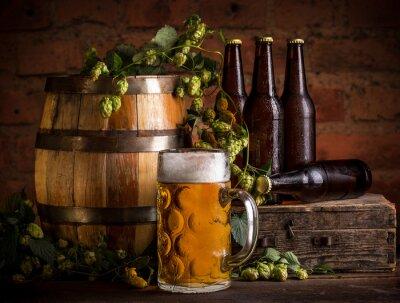 Carta da parati Bicchiere di birra