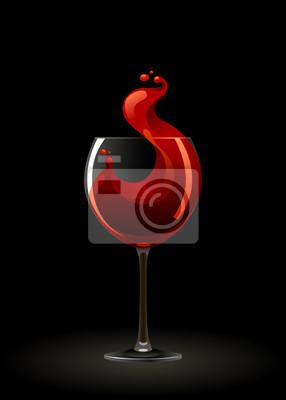 Bicchiere Di Vino Rosso Su Sfondo Nero Carta Da Parati Carte Da